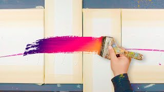 ABSTRACT ART PAINTING Demo With Brush And Spray Cans | Hexacircle