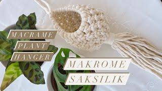 Macrame Plant Hanger - Makrome Saksılık