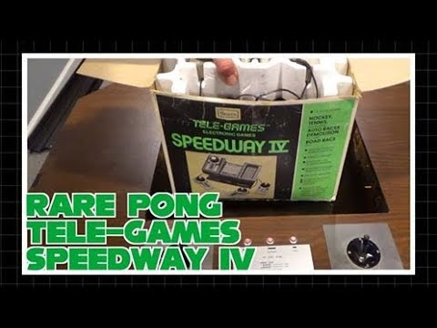 Rare Pong Tele-Games Speedway IV
