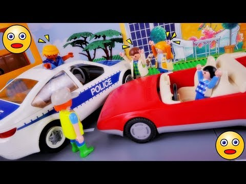 playmobil story for kids accident in dads new car funny story in english playmobil animation