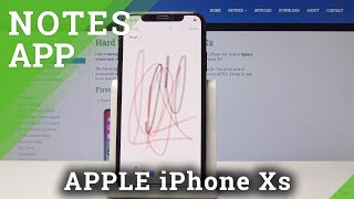 How to Add a Note in iPhone Xs – Notes Application