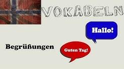 Norwegisch lernen - Begrüßungen/velkomsthilsen | Nordika