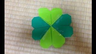 折り紙 四つ葉のクローバー 折り方 作り方 四つ葉のクローバー 検索動画 27