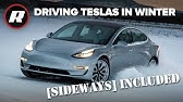 EXCLUSIVE: Winter driving all Tesla cars in Alaskan snow   Sideways Included