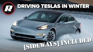 EXCLUSIVE: Winter driving all Tesla cars in Alaskan snow | Sideways Included