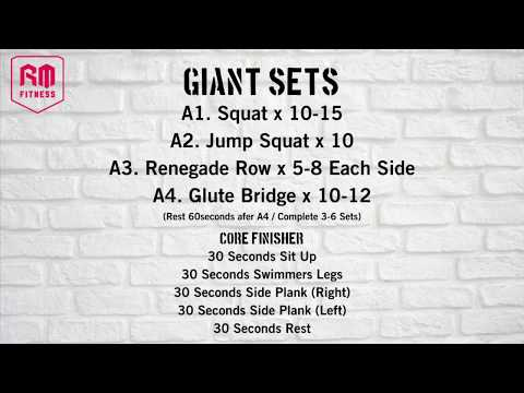 Giant Sets & Core Finisher Home Workout