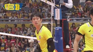 Download Video Masahiro Yanagida 柳田将洋 Highlights VS Italy ( FIVB World Grand Champions Cup 2017) MP3 3GP MP4