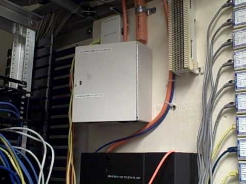 DSL Network Wiring Closet  ether and VOIP phone