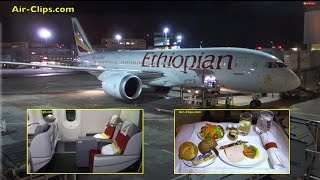 Ethiopian Boeing 787-8 Dreamliner Business Class to Addis Ababa! [AirClips full flight series]