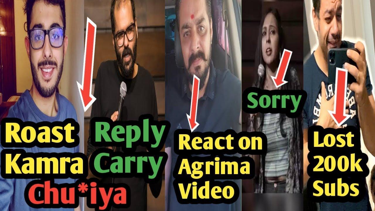 carryminati Roast Kunal Kamra | hindustani bhau react agrima | flying beast lost subs | dank rishu