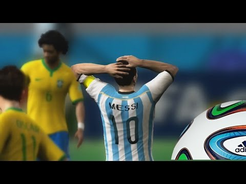 2014 Fifa World Cup Gameplay Xbox 360 - Una Final Argentina Vs Brasil, Siguen con su mal momento