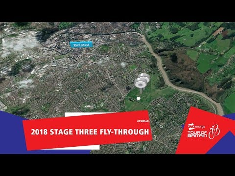 OVO Energy Tour of Britain | Stage Three fly-through | Brist