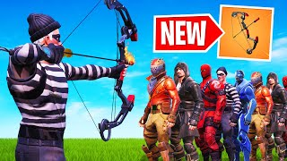 How Many People Can 1 ARROW KILL In FORTNITE?! (*NEW* Bow)