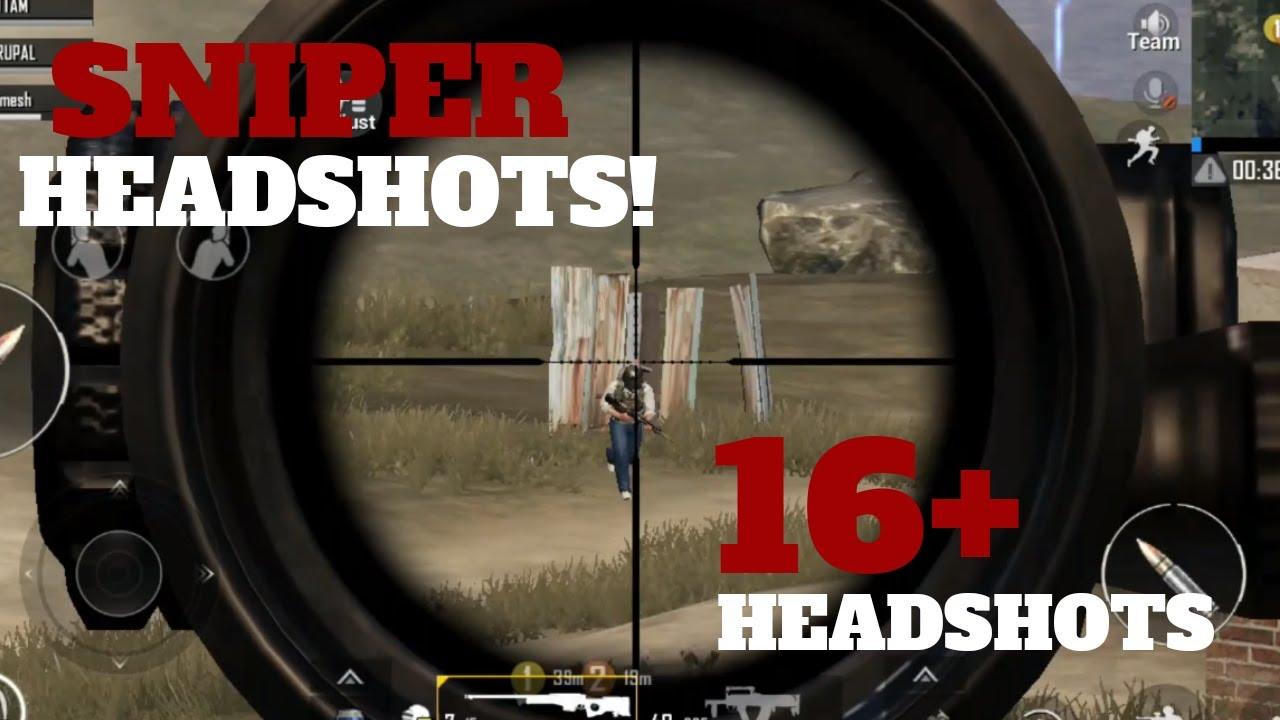 Sniper 16 Head Shots Must Watch Pubg Mobile