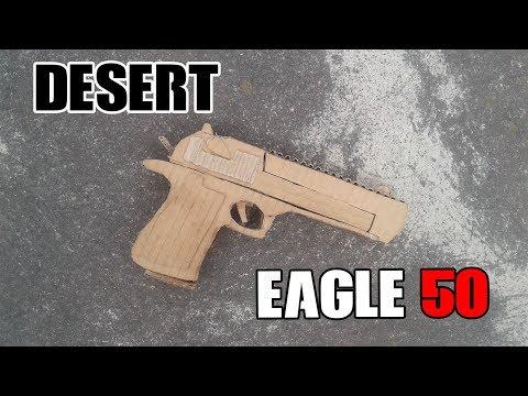 Como hacer una pistola Desert Eagle de cartón | How to make a cardboard Desert Eagle