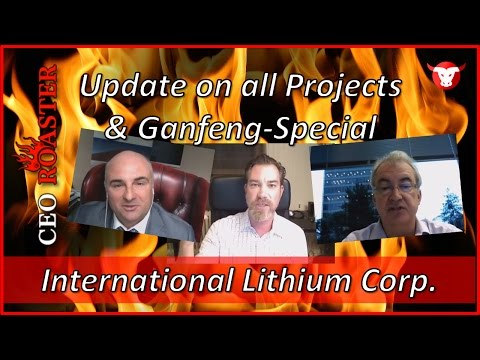 International Lithium: Update on all Projects & Ganfeng Spec
