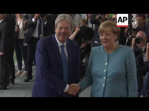 Arrivals for pre-G20 meeting in Berlin