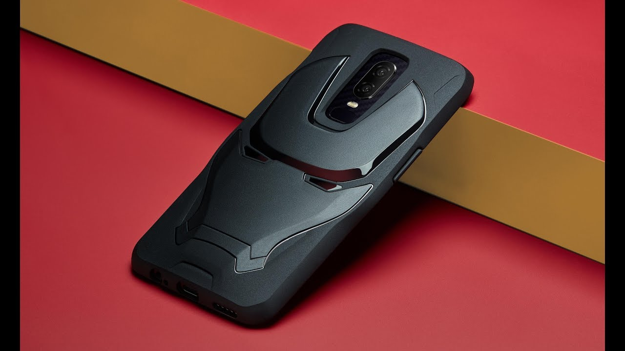 buy popular 8c03c 82f62 Official OnePlus 6 Marvel Avengers Iron Man Case (Black) unboxing