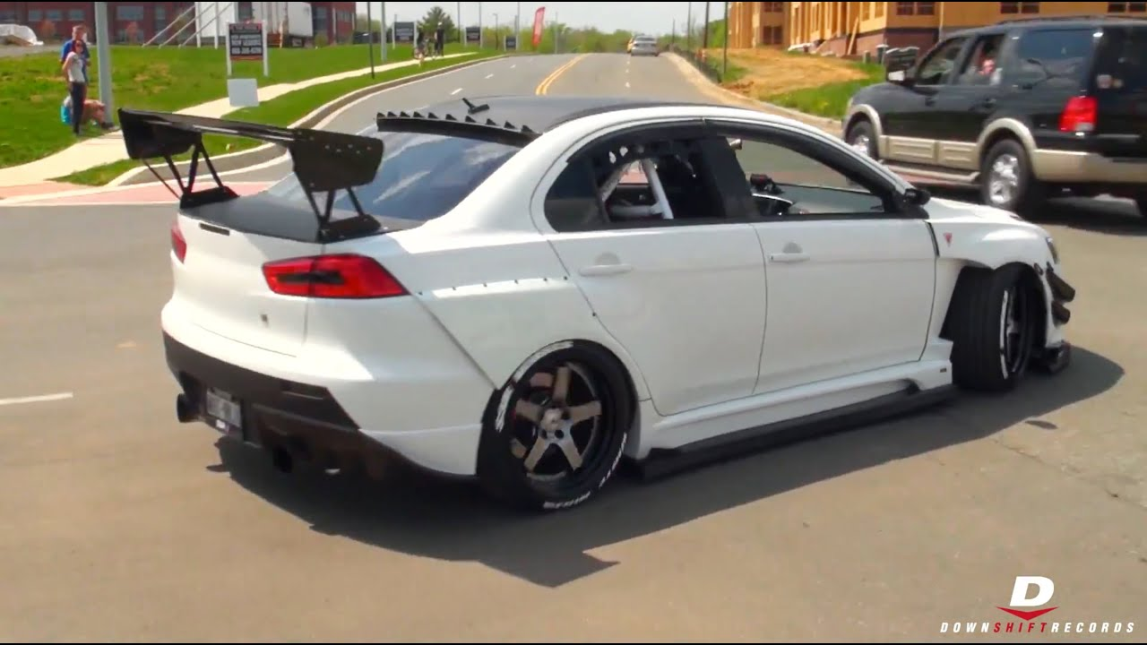 Modified Mitsubishi Lancer Evo X // Panda Junction - YouTube