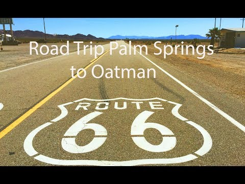 USA Road Trip Palm Springs to Oatman GoPro 4K