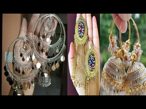 Latest silver long earring and jhumka collection/2019 earnings designs