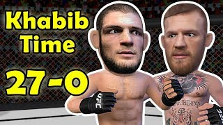 Khabib Nurmagomedov chokes out McGregor After a mauling  - UFC 229