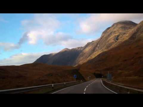 Autumn Drive A82 Road Through Glencoe Scottish Highlands Scotland