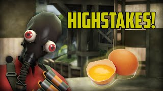 Raw Egg Highstakes! Upward Pyro, Hammertime!
