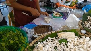 Street food Thai mushroom soup Phuket