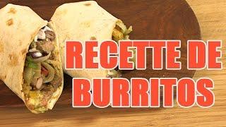 Recette Mexicaine Rapide : Les Burritos Boeufs Tex Mex