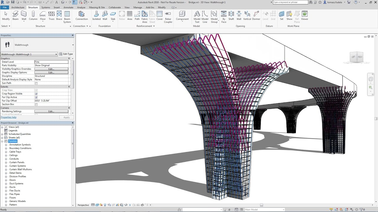 Revit 2018 New Feature Rebar Placement In Free Form