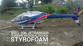 make Homemade SCALE RC HELI BELL 206 JetRanger DURHAM REGIONAL POLICE heli 450 BUILD VIDEO