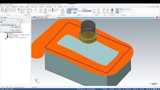MasterCam 2019- 2D For beginners : Tutorial facing toolpath