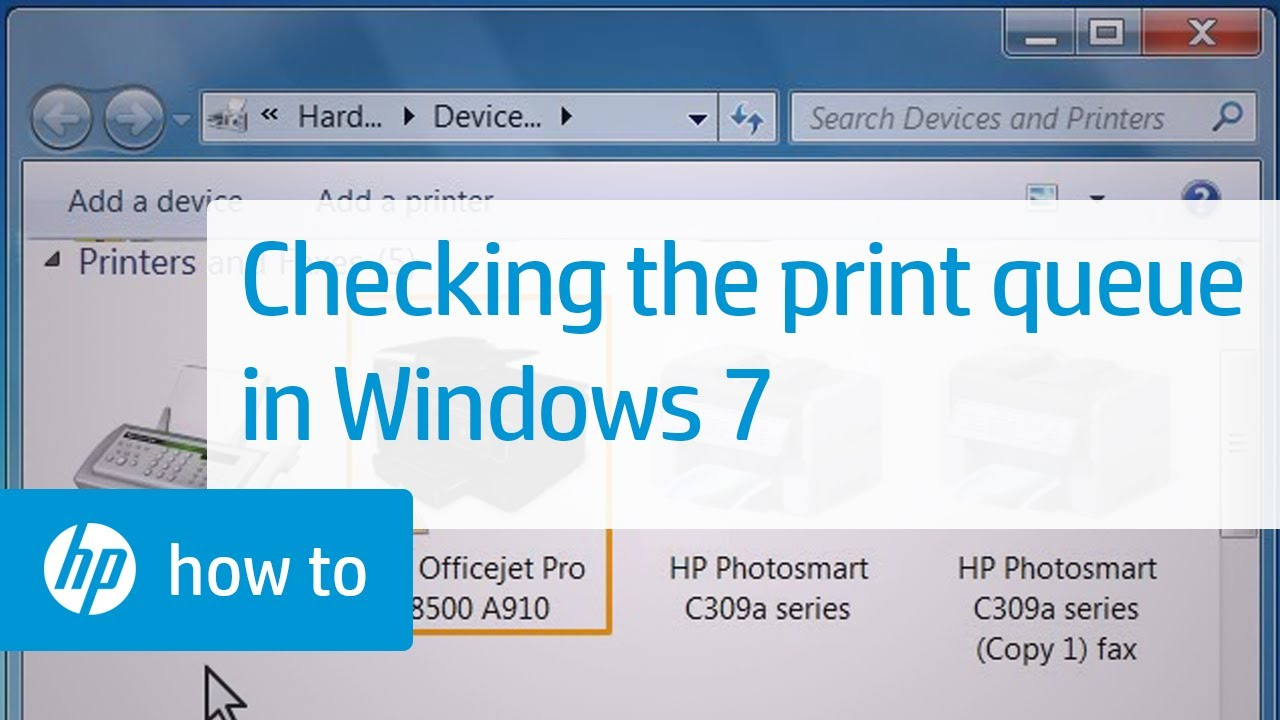 Checking the Print Queue in Windows 7 | HP Printers | HP
