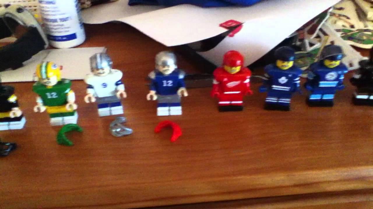 Custom Lego NFL and NHL Minifigures Football Hockey Tom ...