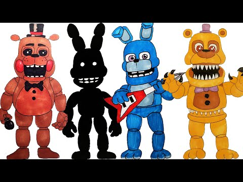All of my FNaF world drawings How to draw drawing lessons part 2