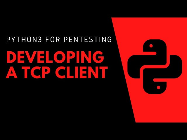 Python3 For Pentesting - Developing A TCP Client