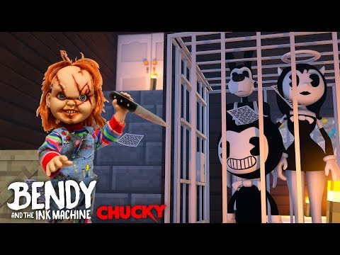 Minecraft - CHUCKY THREATENS TO KILL BENDY AND THE INK MACHINE, ALICE ANGEL & BORIS !!