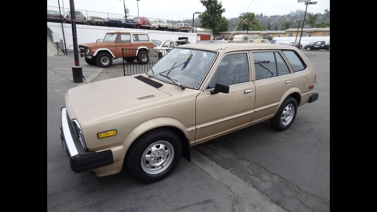 Superior 1981 Honda Civic Station Wagon CVCC Video 1 Owner 4 Cyl Manual For Sale  Estate Break