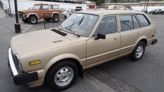 1981 Honda Civic Station Wagon CVCC Video 1 Owner 4 Cyl Manual For Sale Estate Break