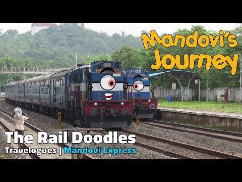 Mandovi's Journey 🚂 - Good Bye Goa | The Rail Doodles