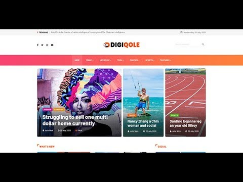 Import Manual Demo Data With DigiQole News Magazine WP Theme