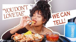 """DUNGENESS CRAB SEAFOOD BOIL MUKBANG + """"Y'ALL DON'T THINK I LOVE TAE THAT MUCH?"""""""