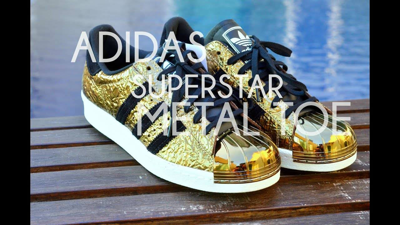 Adidas Original C77124 Superstar White Black Gold Label Foundation