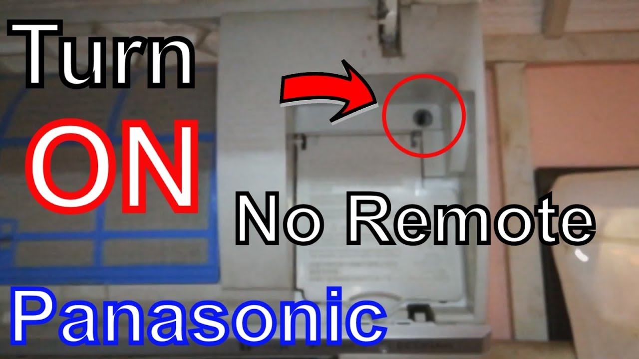 How to Operate your Panasonic Air Conditioner without remote control
