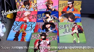 Super Junior - Mr Simple [Version A] All 10 Member Covers CD Unboxing & Review