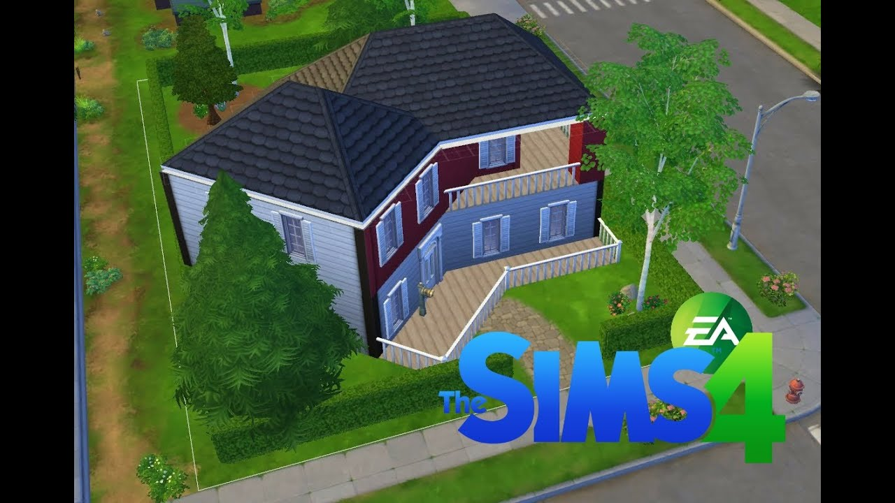 Les sims 4 construction d 39 une maison am ricaine youtube for Maison moderne de luxe sims 3