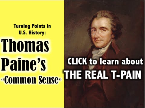 an analysis of common sense by thomas paine This one-page guide includes a plot summary and brief analysis of common sense by thomas paine common sense is a political pamphlet written by thomas paine in 1775-76 and published anonymously on january 10, 1776, during the beginning of the american revolution.