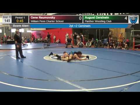 2271 Junior Men 145 Gene Naumovsky William Penn Charter School vs August Gershwin Panther Wrestling