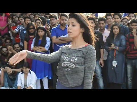 college girls vs boys dance competition lucknow   Lucknow university up